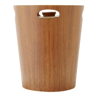 Midcentury Teak Ice Bucket by International Design Group for Servex