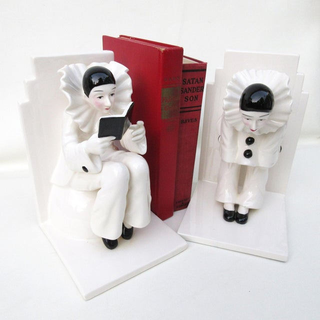Art Deco Ceramic Mime Bookends - A Pair - Image 5 of 7