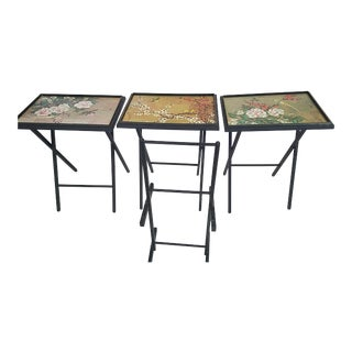 Decorative Folding Tay Tables - Set of 3