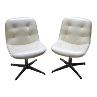 Steelcase Tufted Chairs - A Pair