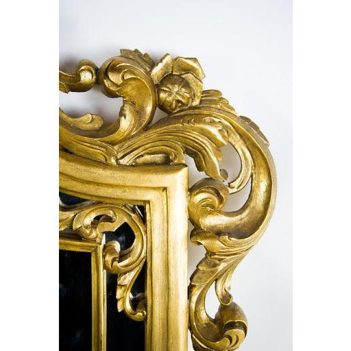 Image of Baroque-Style Carved Wooden Wall Mirror