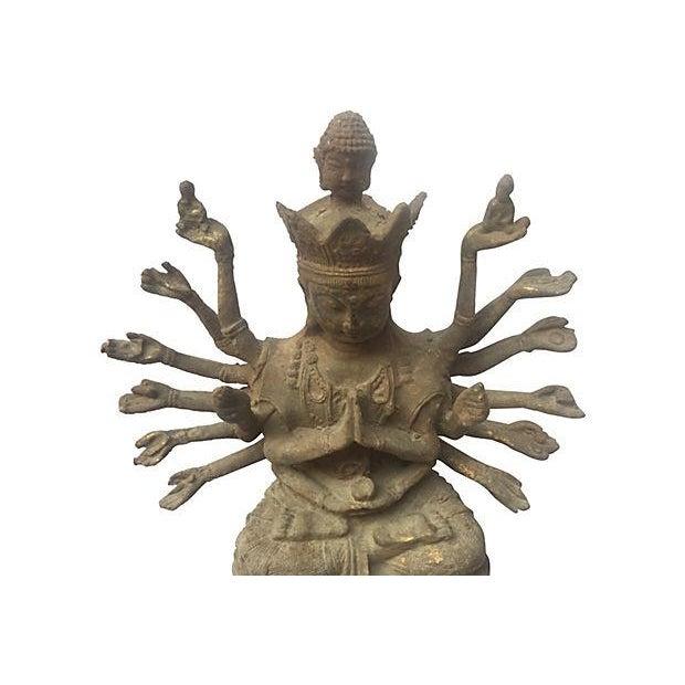 Cast Iron Statue of the Goddess Durga - Image 2 of 6