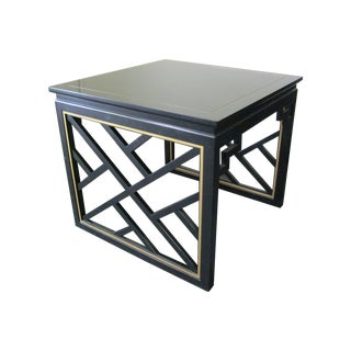 Dorothy Draper Kindel Square Trellis Lamp Table