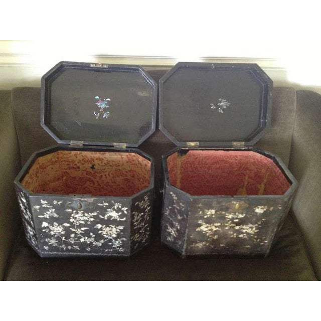 Large Pair of Chinoiserie Lacquer Boxes - Image 2 of 8
