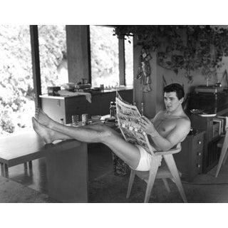 "1952 Sid Avery ""Rock Hudson at Home"" Photograph"
