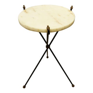 Marble Top Folding Gueridon Table