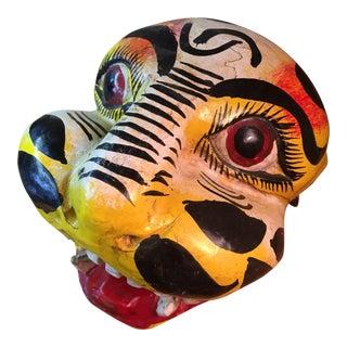 Hand Carved Tiger Mask