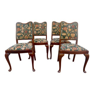 Walnut Dining Chairs - Set of 4