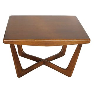 1960s Danish Modern X-Base Coffee Table