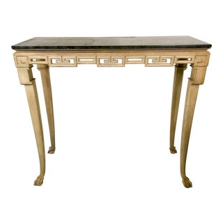 Italian Greek Key Tall Console Table