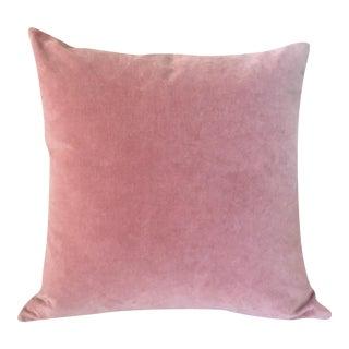 Coral Cotton Velvet Custom Made Pillow