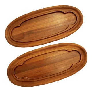 Teak Dansk Cheese Boards - A Pair