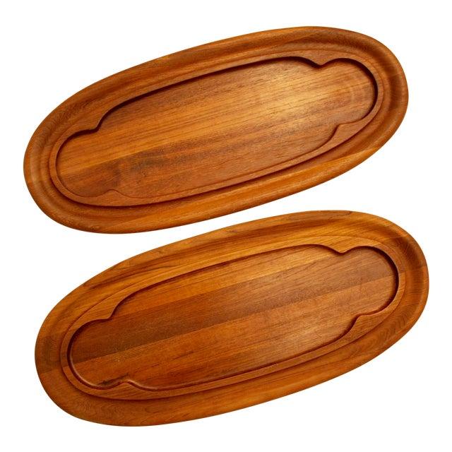 Teak Dansk Cheese Boards - A Pair - Image 1 of 5