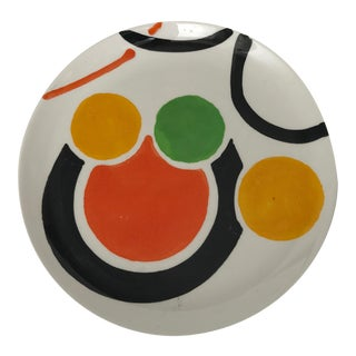 Abstract Patterned Retro Plate