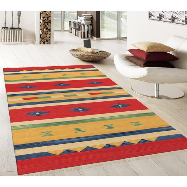 Anatolian Hand-Woven Cotton Rug - 8' X 10' - Image 4 of 4