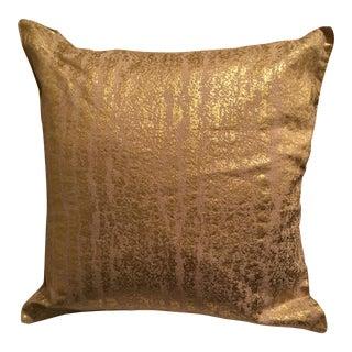 Gold Leaf Linen Pillow