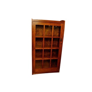 Michael's Furniture Mission Glass Door Cabinet