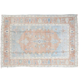 "Vintage Oushak Carpet - 5'8"" X 8'3"""