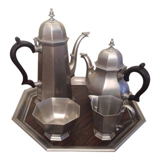 Vintage Gorham Pewter Coffee & Tea Set - 5 Pieces