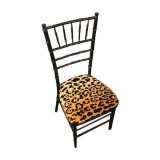Braemore Jamil Black Bamboo Leopard Chair