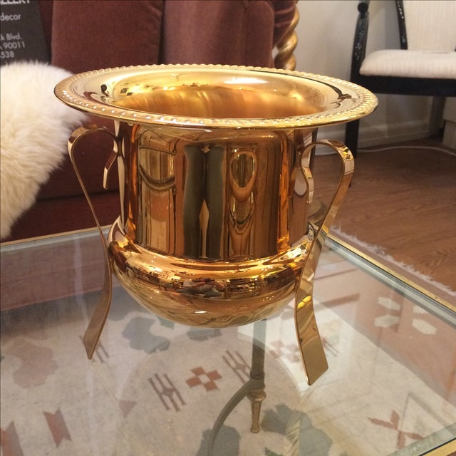 14k Gold Electro Plated Champagne Bucket - Image 2 of 7