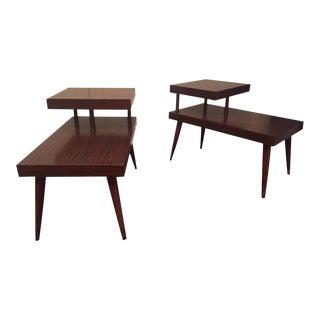 Klopstock & Sansom Mid-Century Modern Side Tables - Pair