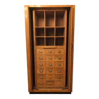 Vintage Italian Post Office Cabinet