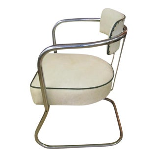 Gilbert Rohde Tubular Chrome Desk Chair