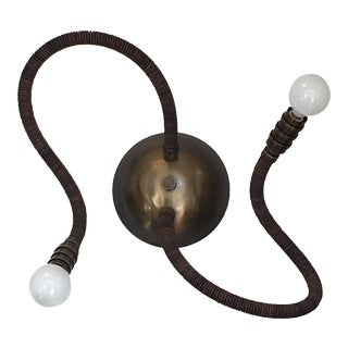 Pair of Adjustable Bark Branch Leather Meander Wall Lights