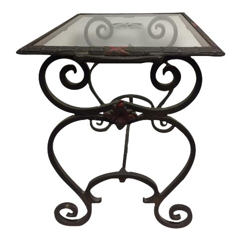 Art Deco Iron Side Table - Image 1 of 11