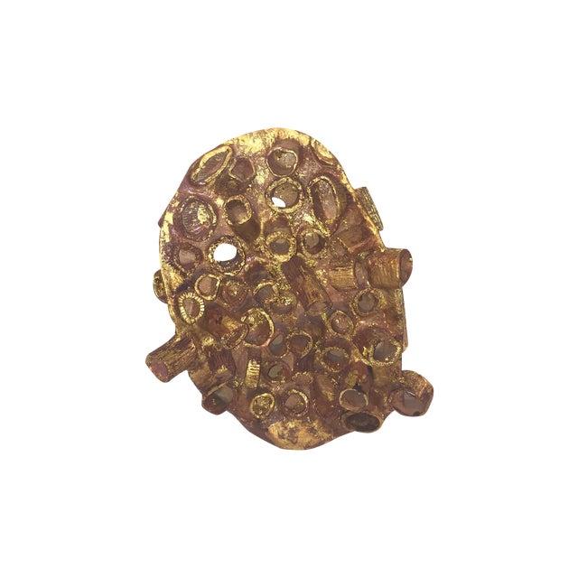 Midcentury Terra-Cotta and Gold Leaf Sculpture - Image 1 of 8