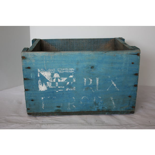 Blue Distressed Europa Rex Bottle Crate - Image 3 of 5
