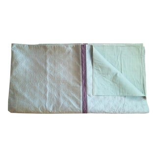 Queen Size Silk Quilt Coverlet
