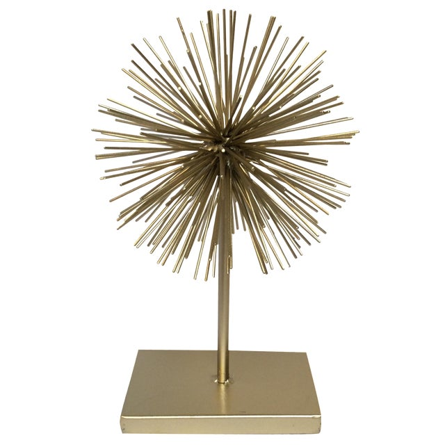 Gold Star Burst on Stand - Image 1 of 6