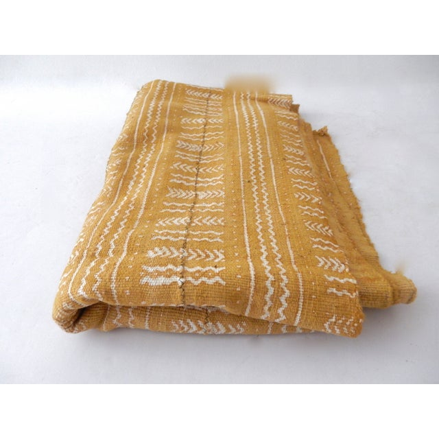 Mustard Bogolan Mud Cloth Textile - Image 5 of 8