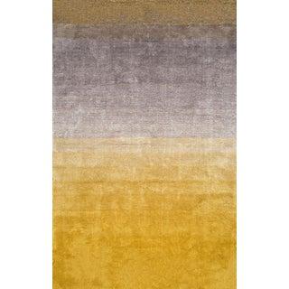 Handmade Yellow Ombre Shag Rug - 5' × 8'