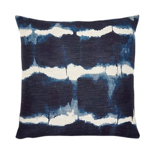 "Piper Collection Tie Dye Navy ""Gilbert"" Pillow"