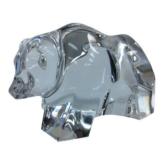 Baccarat Crystal Bear