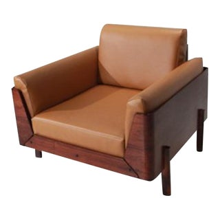 Jorge Zalszupin Rosewood Spine Lounge Chairs - A Pair