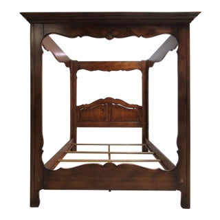 Ethan Allen Country French Queen Size Canopy Bed