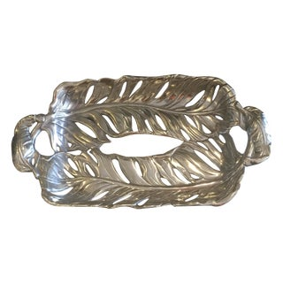 Arthur Court Palm Leaves Aluminum Serving Tray