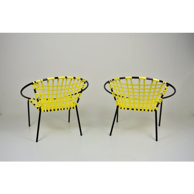 Image of Mid-Century Patio Hoop Chairs - A Pair