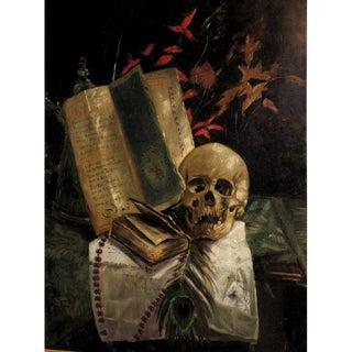 "Large Framed ""Vanitas"" Antique Oil Painting"