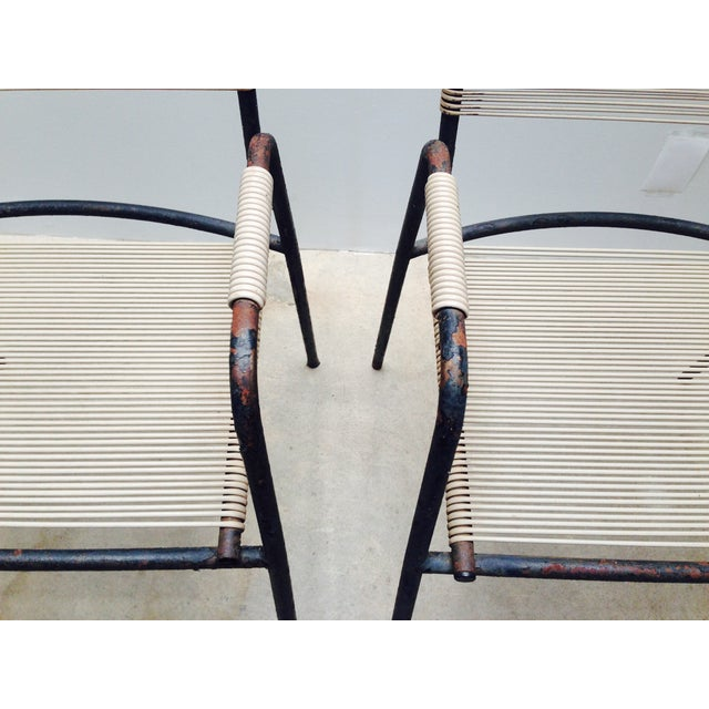 Rare Exterior Corded Ames Aire Arm Chairs - A Pair - Image 7 of 7