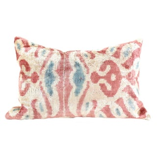 Pink Silk Ikat Velvet Pillow