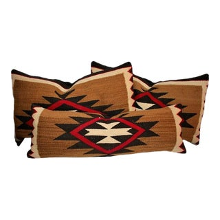 Group of Three Early Navajo Weaving Pillows