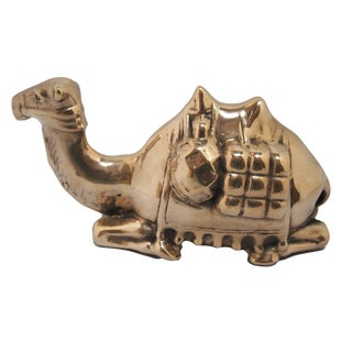 Vintage Recumbent Brass Camel