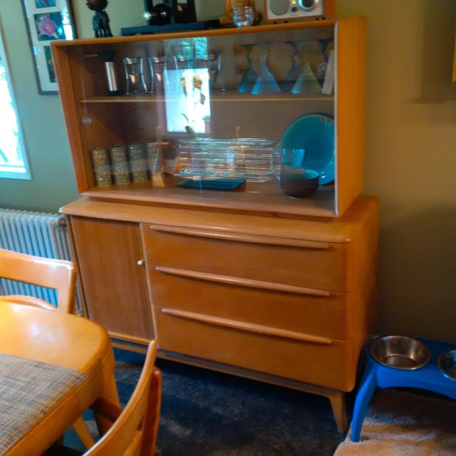 Heywood Wakefield Tambour Hutch & China Cabinet - Image 3 of 3