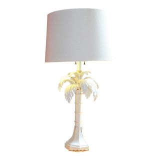 Hollywood Regency Palm Tree Tole Lamp