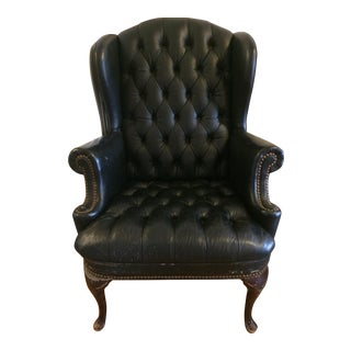 Chesterfield Leather Wingback Armchair